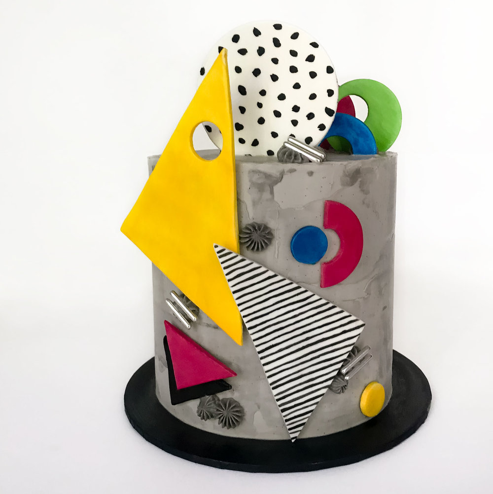 80s Camille Walala inspired cake