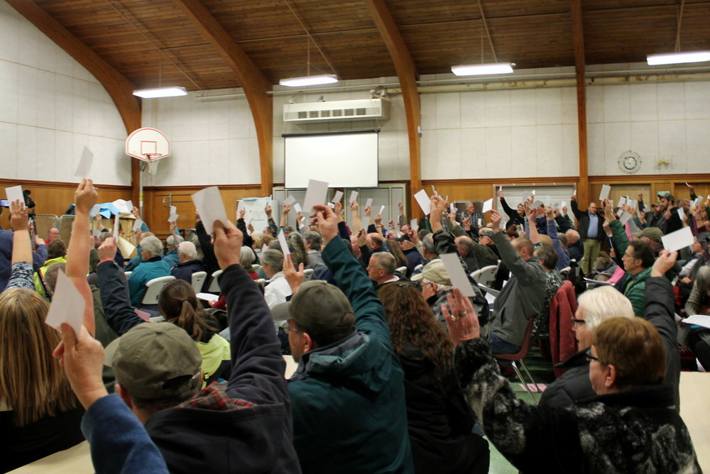 Wilton, ME voters oppose CMP project (credit: Franklin Journal)