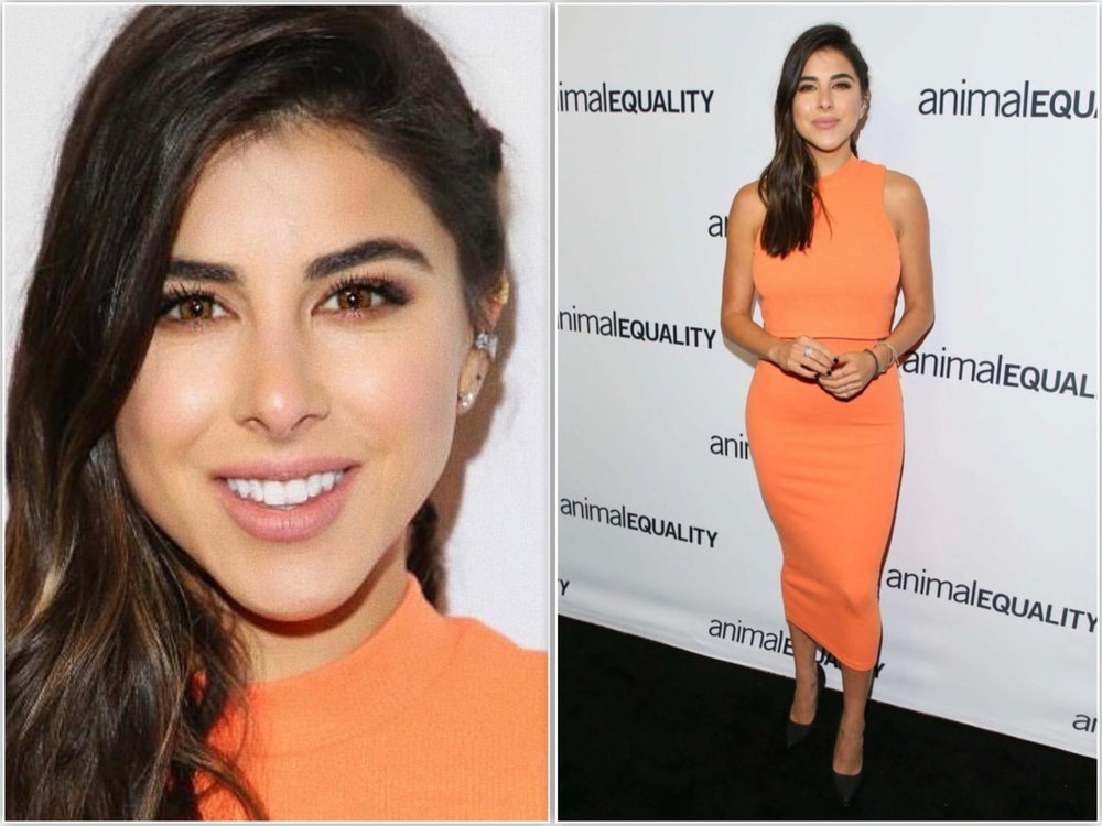 Daniella Monet red carpet Animal Equality.jpg