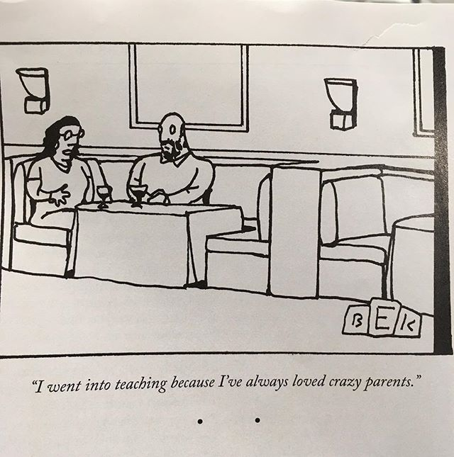 For all my teacher friends out there 😂 #teachers #newyorker #newyorkercartoons