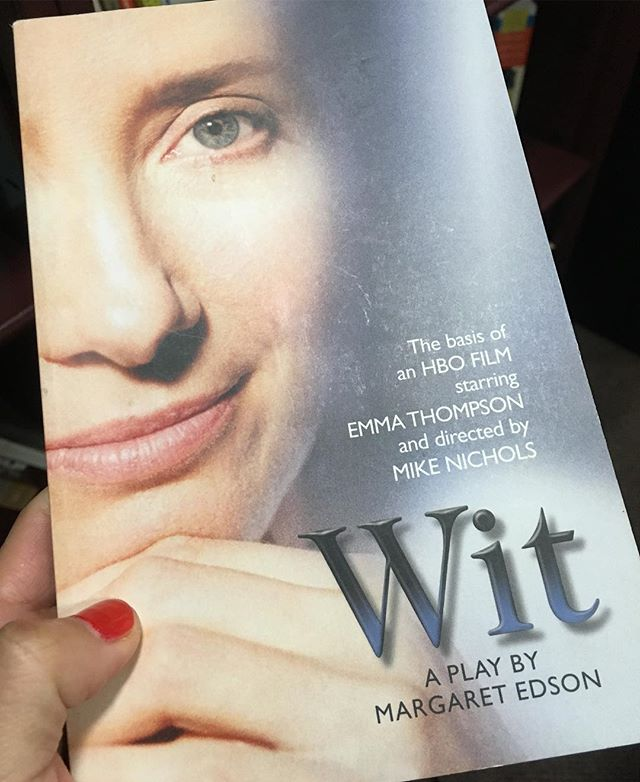 Teaching WIT by Margaret Edson today. This play always makes me cry, and the Mike Nichols film adaptation is absolutely amazing. I loved the play so much that I wrote Edson a fan letter and she wrote back!!! She's a Pulitzer Prize-winning playwright who teaches kindergarten and has spoken of how magical and profound the act of learning how to read is... #wit #johndonne #margaretedson #mikenichols #emmathompson #metaphysical poetry