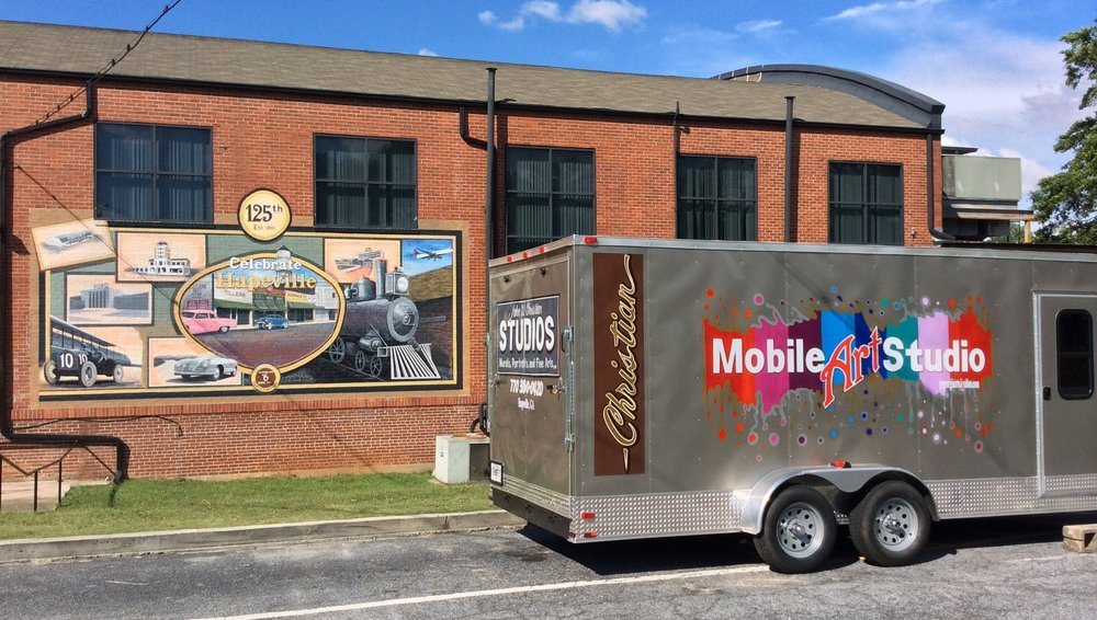 Hapeville Mural and our Mobile Art Studio