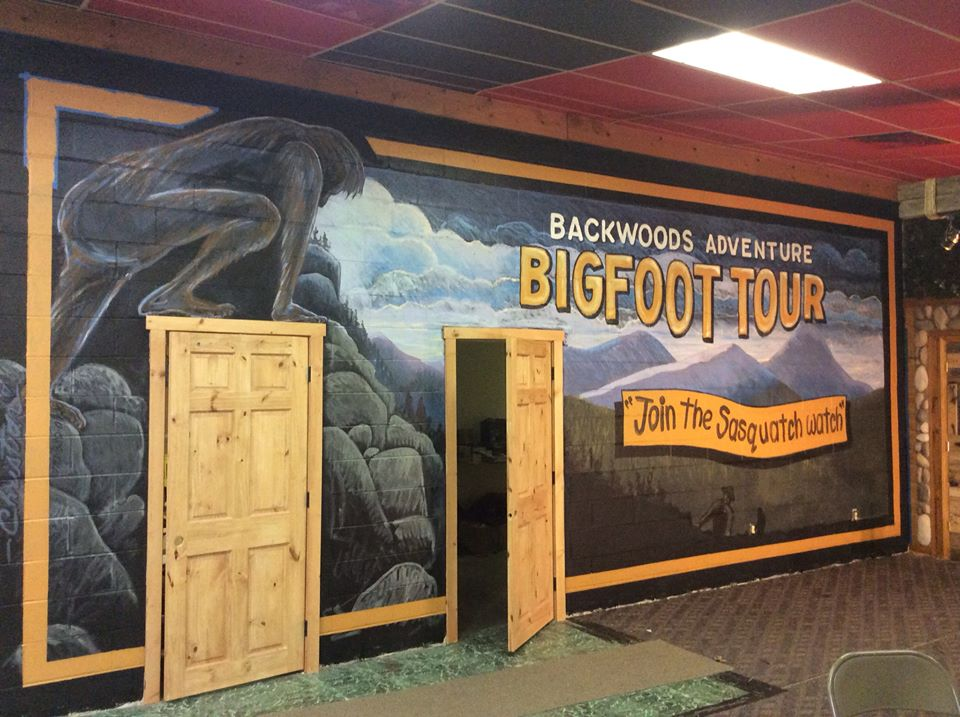 This is our Big Foot mural in the city of Cherry Log, Ga. It is in the Big Food Museum.