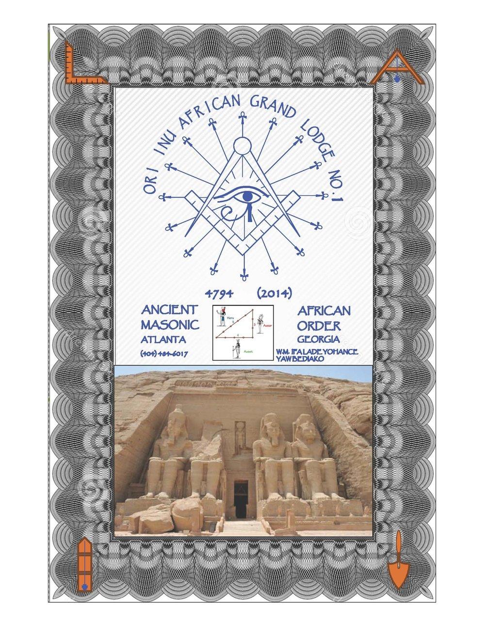 Ori Inu African Grand Lodge No. 1