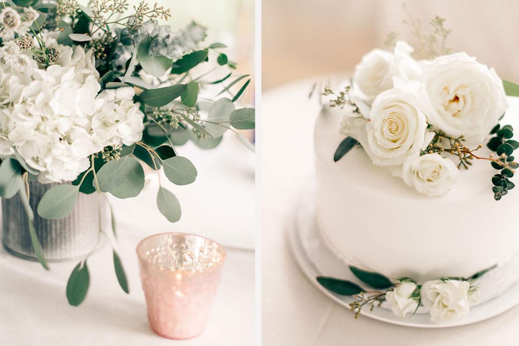 Sydney and brian samantha nass blush and mixed foliage florals wedding cakenbspsurrey inn summer wedding mightylinksfo
