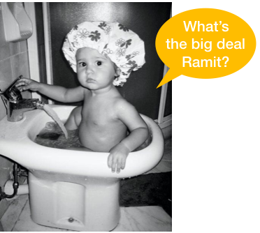 My daughter in a bidet. If she can, YOU CAN!