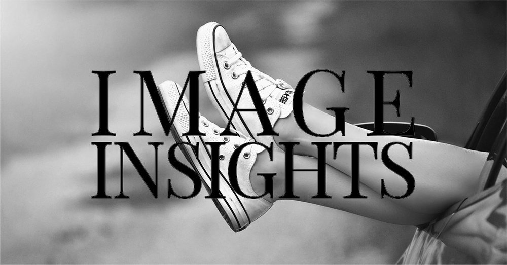 female legs hanging out of car window with 'Image Insights' superimposed