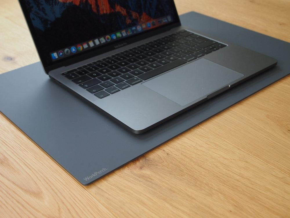 Matte Grey Desk Mat WorkPerch