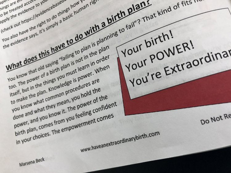 pdf workbook how to write your natural hospital birth plan