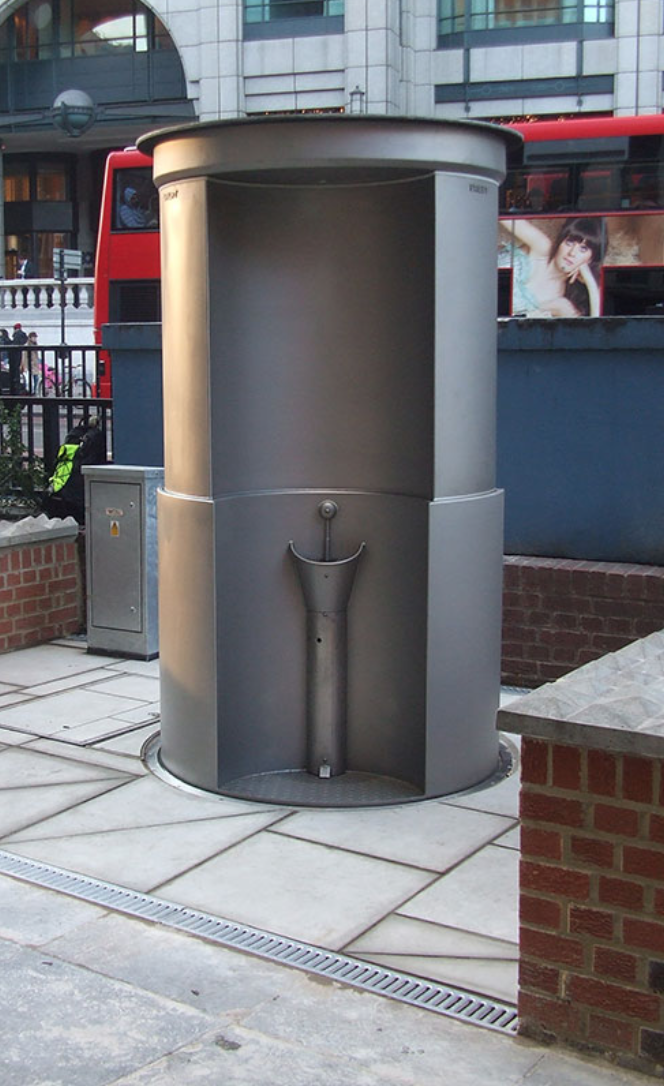 RETRACTABLE URINALS: URILIFT    LONDON, AMSTERDAM