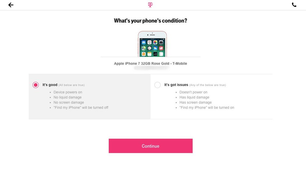 Copywriting: Purchase Flow, T-Mobile