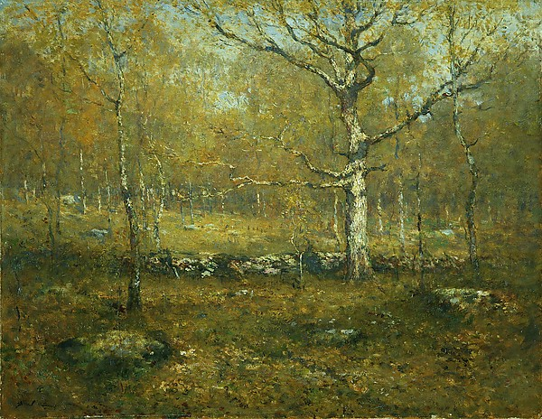 Spring Woods by Henry Ward Ranger   Come take a walk when the air is warm and leaves are still tender and new. Allow the trees to guide you to the heart of the forest.