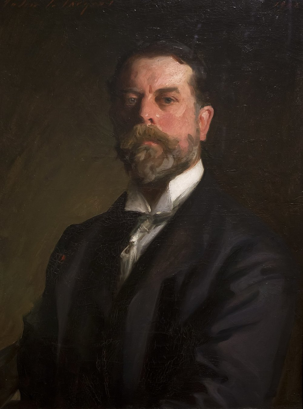John Singer Sargent 1856 - 1925   John Singer Sargent showed his knack for painting at a young age. In his late teens, he enrolled in an art class that took place in Florence at the Accademia delle Belle Arti. During the winter of 1873-74, Sargent sharpened his skill with a paintbrush, which proved to his father it was worth encouraging his son to chase after art. Eventually, Sargent did quite a bit of traveling. In Spain, he admired and copied the works of Diego Velasquez. In Venice, he admired the picturesque canals. Travel scenes became a major part of his work.