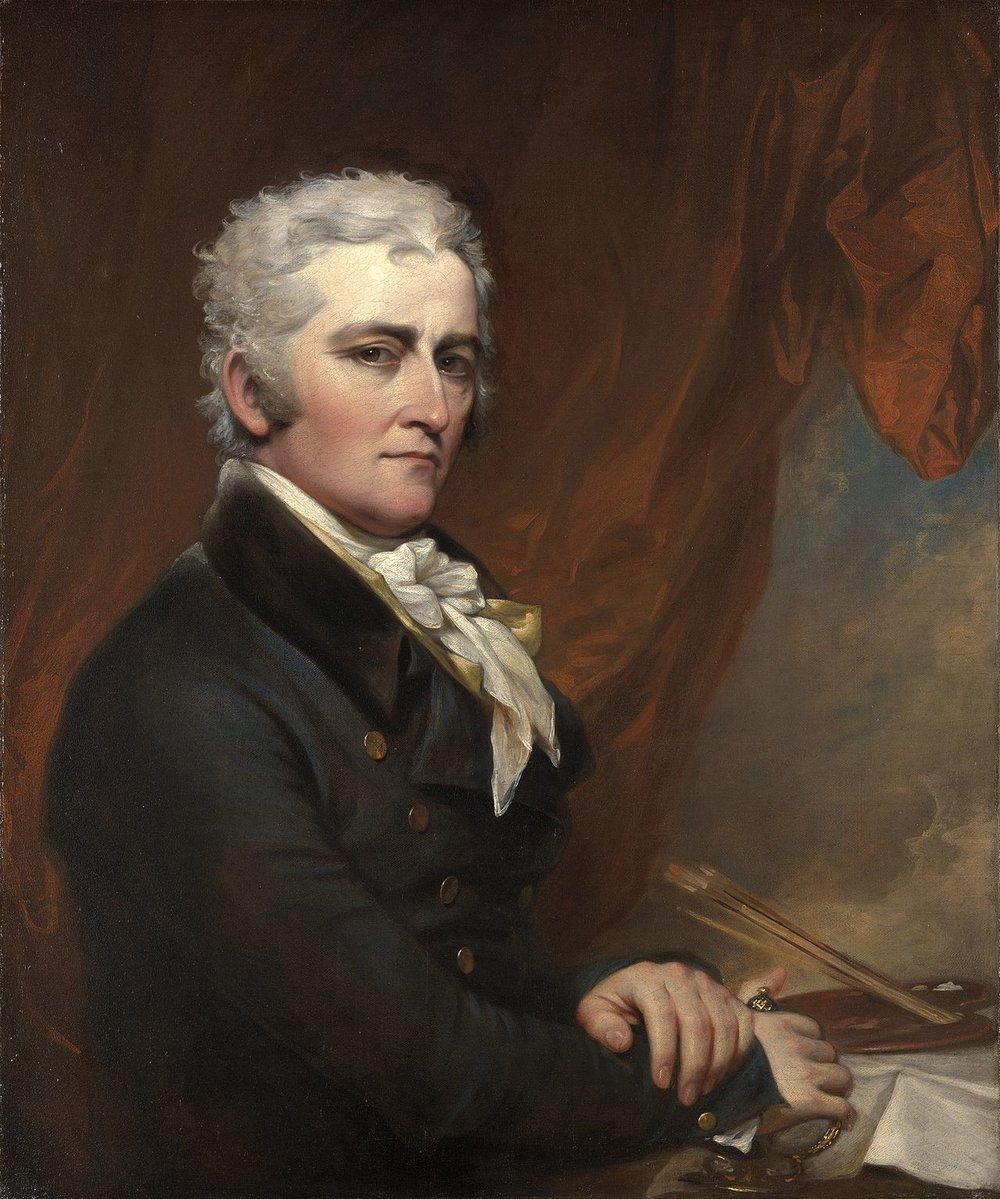 John Trumbull (1756 - 1843)    John Trumbull , American painter, architect, and author, whose paintings of major episodes in the American Revolution form a unique record of that conflict's events and participants.  After attending Harvard College in 1773, he worked as a teacher. During the American Revolution, he served as an aide to General George Washington and attained the rank of colonel.  In 1784, John Trumbull studied with the painter, Benjamin West. West and Thomas Jefferson encouraged Trumbull to do a series of historical paintings and engravings he worked on for the rest of his life.