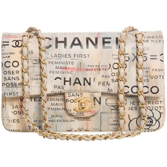 Chanel Limited Edition Graffiti Newspaper Print Double Flap Bag