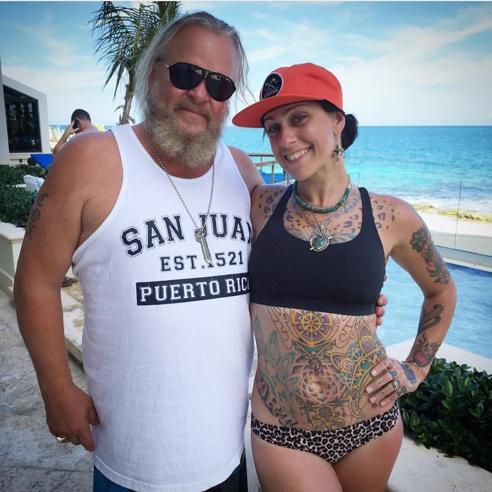 Mike Cox (Burton) and I the first time we met in Puerto Rico!