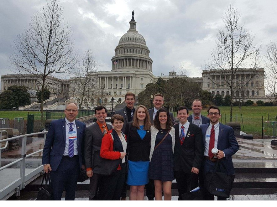 Marquette ASDA legilative committee members at Lobby day 2017
