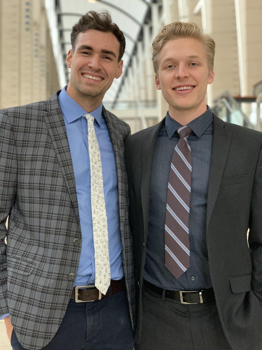 Soren  (right) .