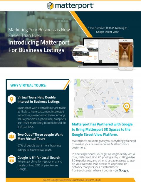 Click on the Flyer to Expand & See what Matterport & Google Street View can do.