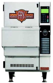 Semi-automatic and fully automated small-batch, ventless fryers. -