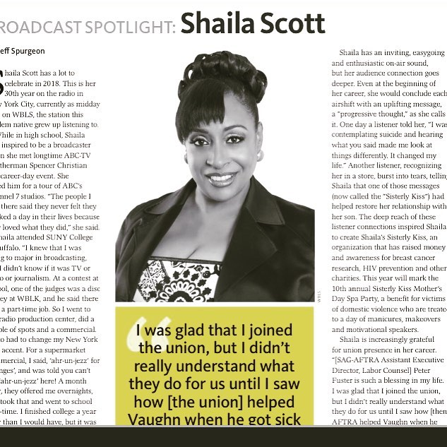 Thanks to my @sagaftra family for the broadcast spotlight  honor!! Thanks #jeffspurgeon 😎#30yearsNYCRadio  https://issuu.com/sag-aftra/docs/single_sany_spring18_f