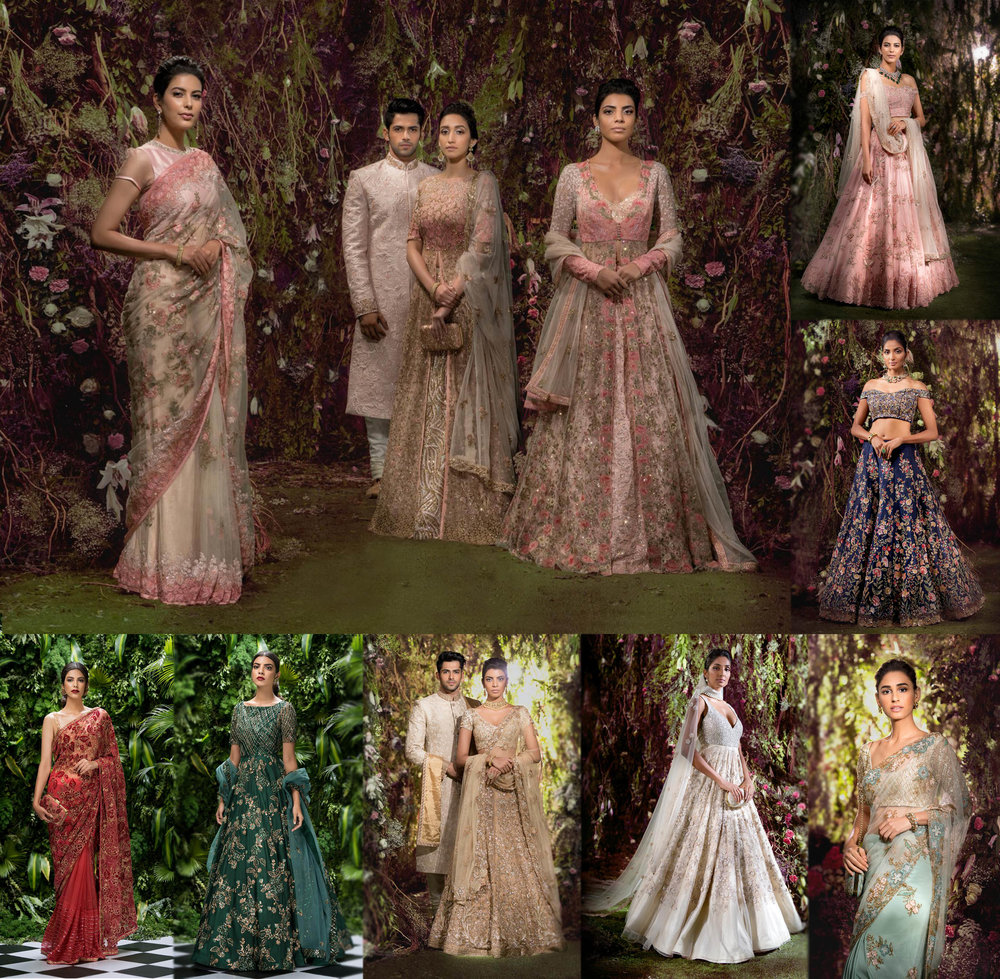 Shyamal and Bhumika - The duo from Gujrat, reflect their passion for craft and heritage in their designs and their latest collection presents extravagant tulle and shimmer.