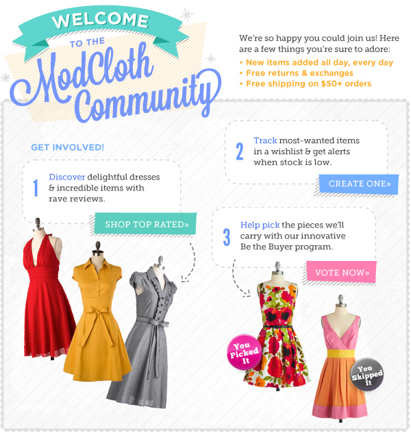 ModCloth Community Email