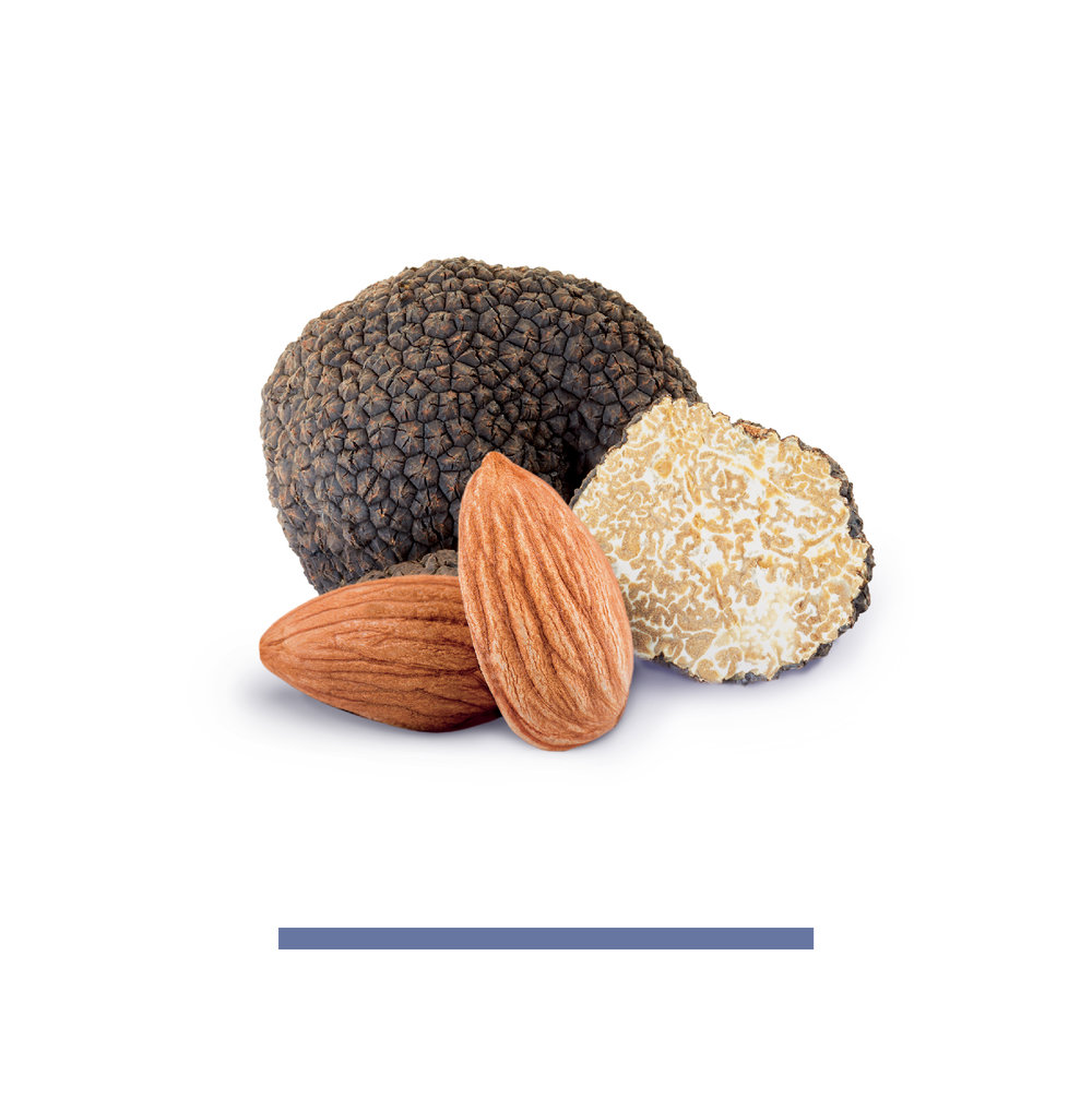 Black Truffle - ALMONDS, SEA SALT, BLACK TRUFFLENot some synthetically enhanced flavor or oil cooked up in a lab.We use real Italian Winter Black Truffles and you can tasted the difference.