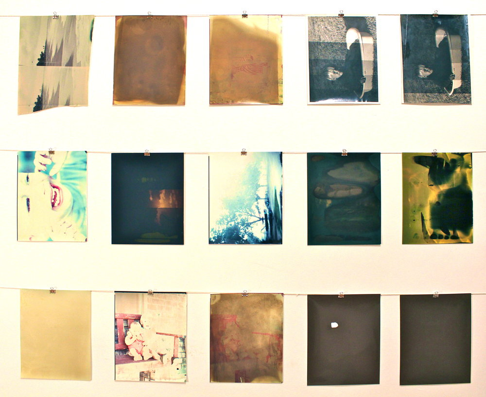 Seminal Excavation,  2012 Cibachrome prints 11 x 9 (each)