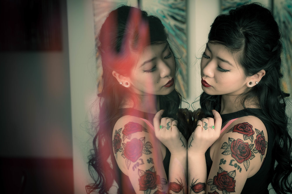 Photography: Welbert Choi Model: Dora Kola  Make-up & Hair: Momo Liu  Temporary Tattoos: Frederic Carrasco