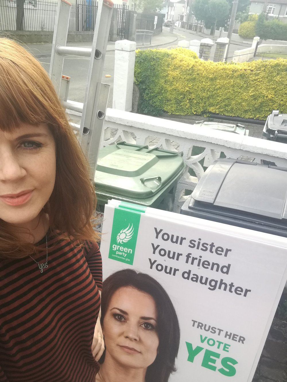 Me with the Green Party Posters