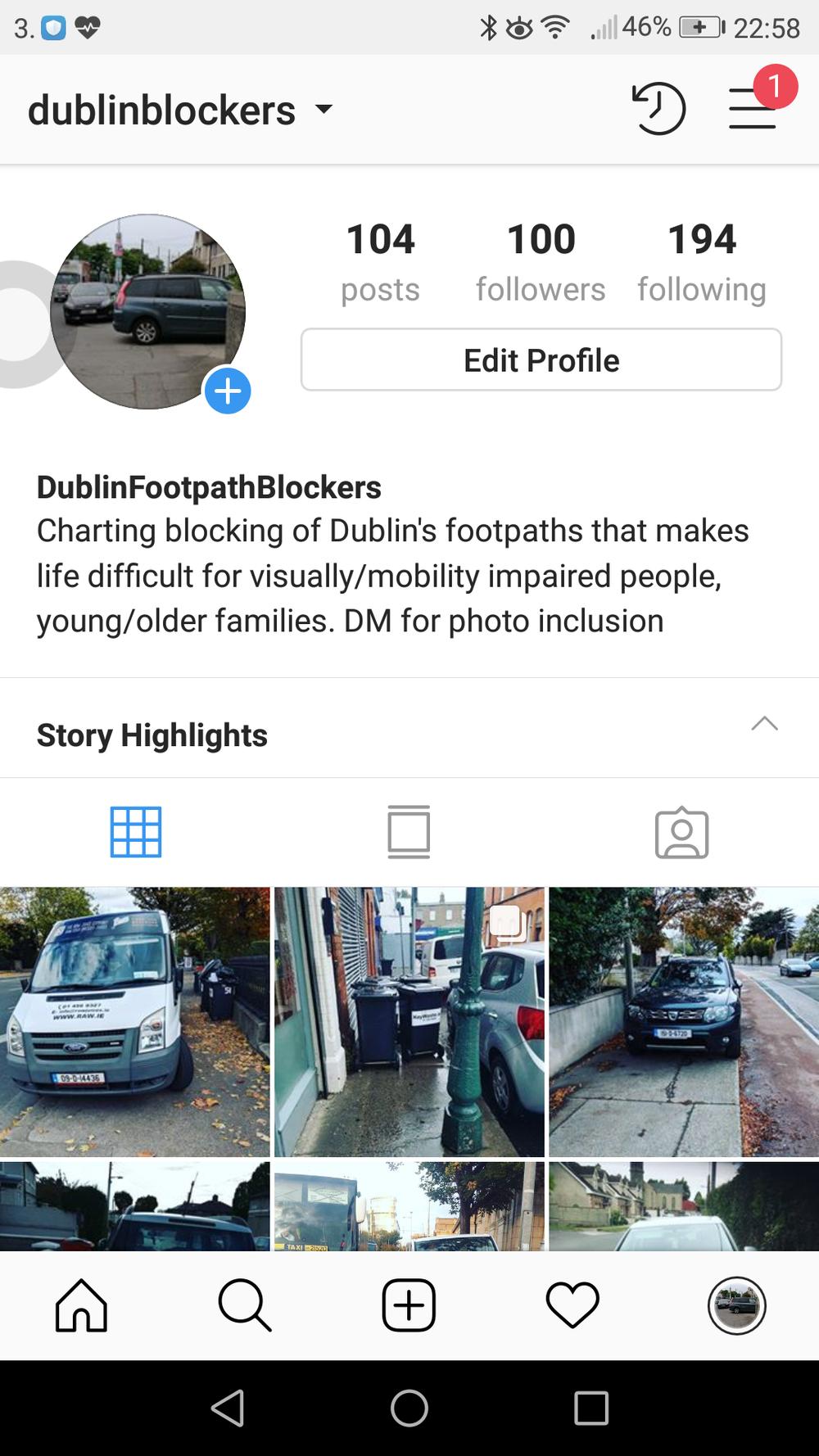 Instagram page of Dublin Blockers