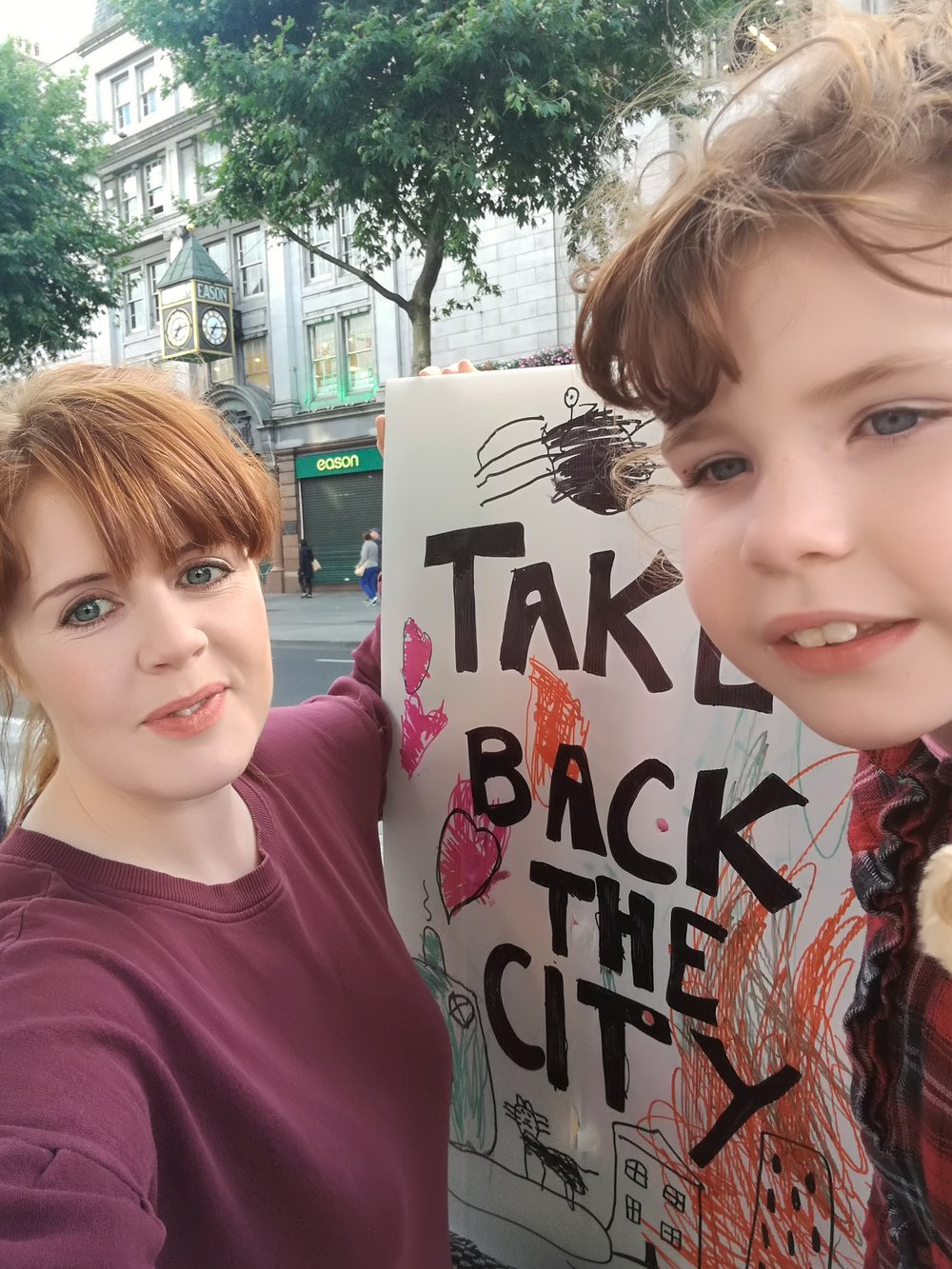 On the very first Take Back the City protest