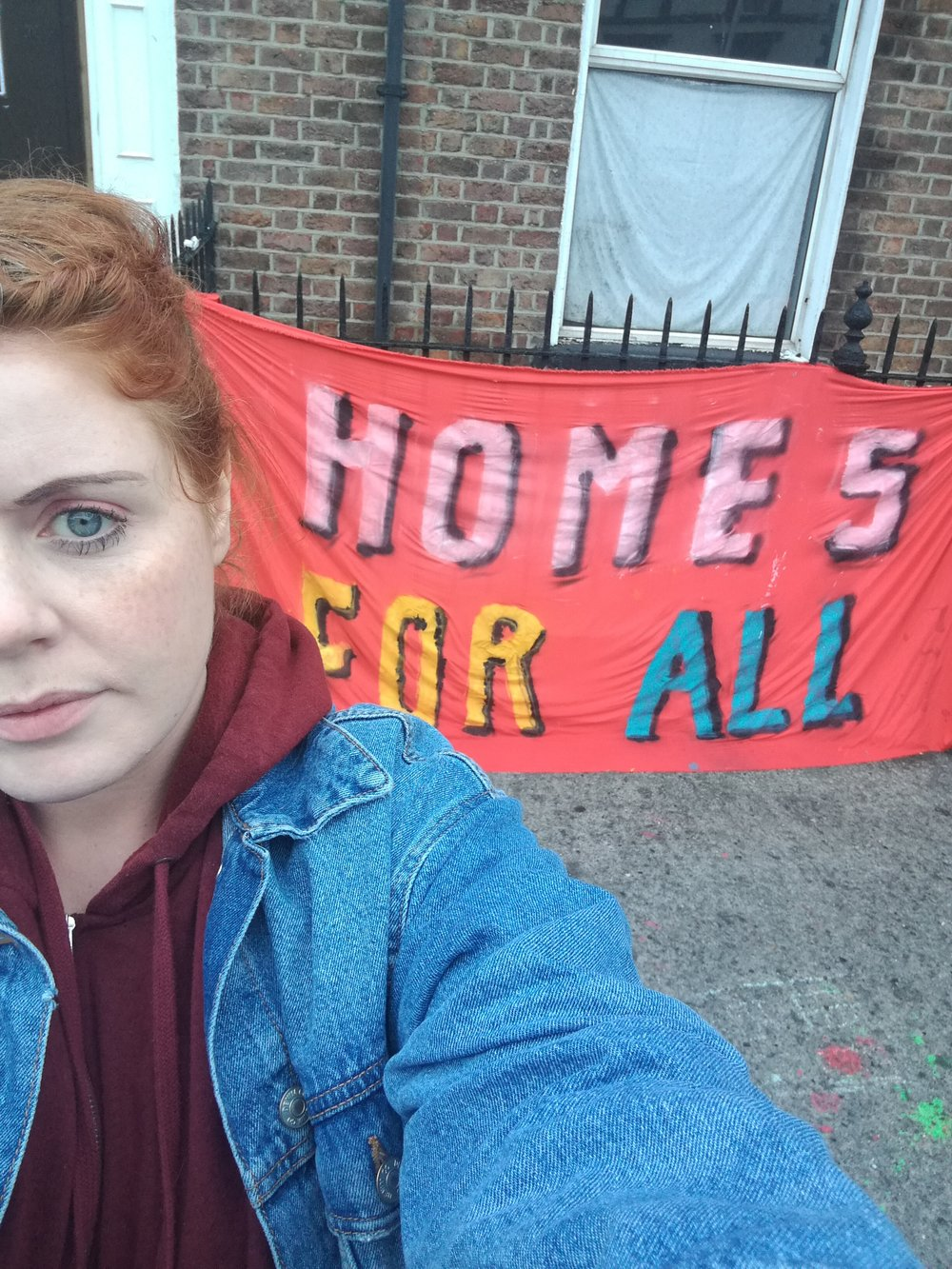 Very early morning outside the Summerhill occupation