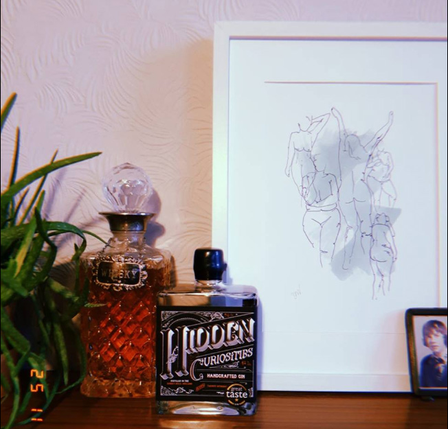 Hidden curiosities gin and awesome mama illustration beautiful bodies print by awesome mama illustration