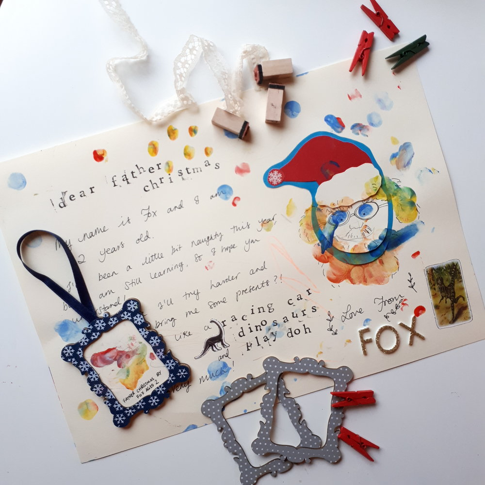 Father christmas letter and decoration