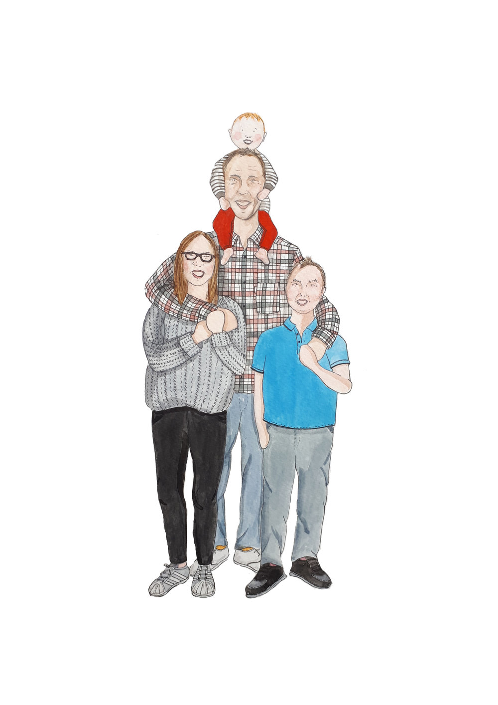Dad Family Portrait by Awesome Mama Illustration.jpg