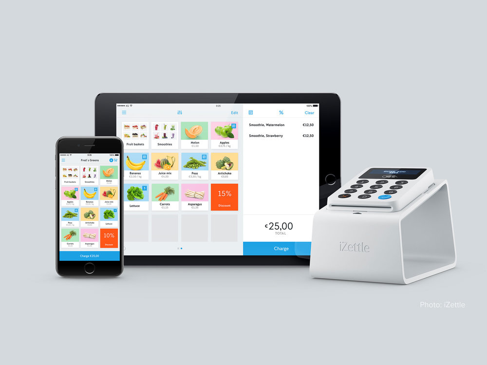 IZettle  Online Mobile payments – Pixonal – above project