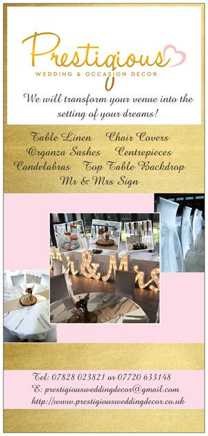 Our Price List Packages Wedding And Venue Decoration In Argyll