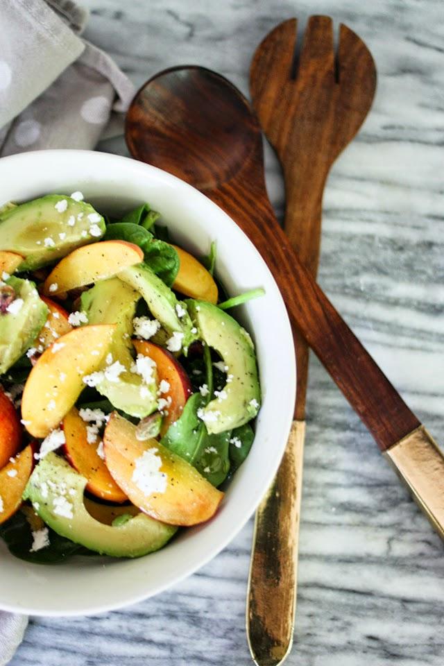 Peach + Pistachio Salad