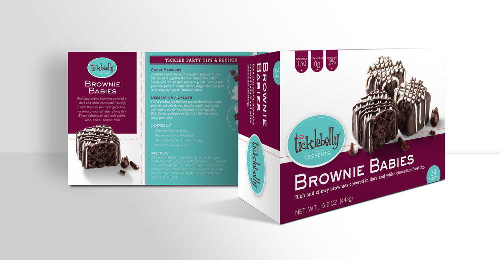 Final design of the package, front and back.