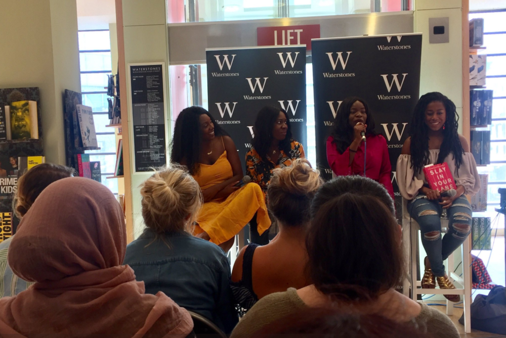 Waterstones:  Chairing a panel discussion with Yomi Adegoke and Elizabeth Uviebinené and Tomi Adeyemi  - August 2018
