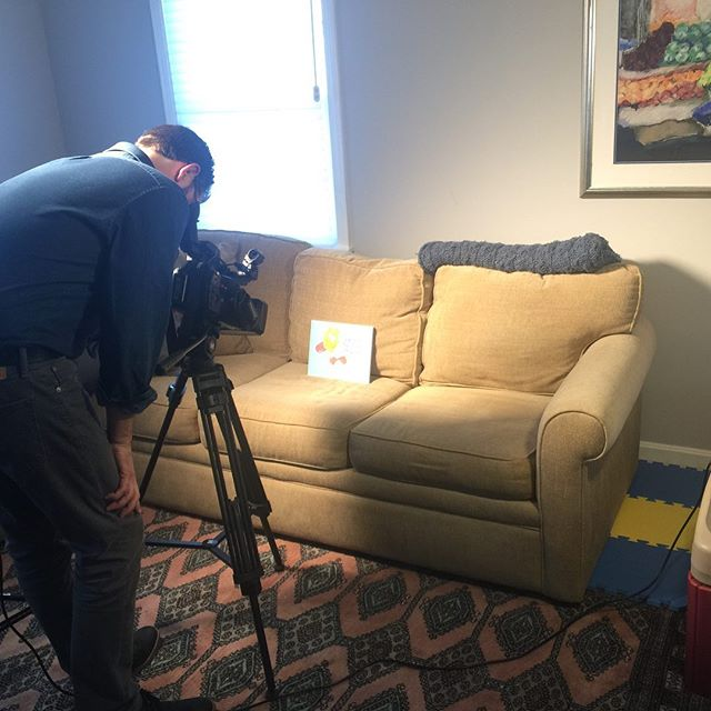 Behind the scenes of our fox25 taping today!  #laughteristhebestmedicine @laughteristhebestmed #cancerwarrior #cancerhumor