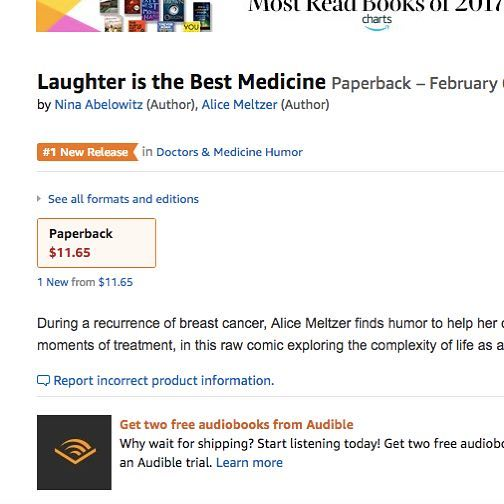 #1 on #amazon in #doctorhumor #laughterisgoodforthesoul #laughteristhebestmedicine #cancerwarrior #cancerhumor #oncologynp