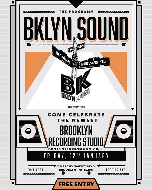 Calling all artists, producers, and/or creative minds with an ear for Music! 🎶 Join us as we celebrate the newest Brooklyn Recording Studio! Free food, free drinks, free entry! Explore the newest studio in the hottest city in New York, Friday January 12th! Doors open promptly at 6PM, you don't wanna miss this!  If you're interested in recording and want to book while you're there you get 2 hours of studio time FREE! Come out and show some love! Can't wait to see y'all there! 🎼✨@bklyncommons