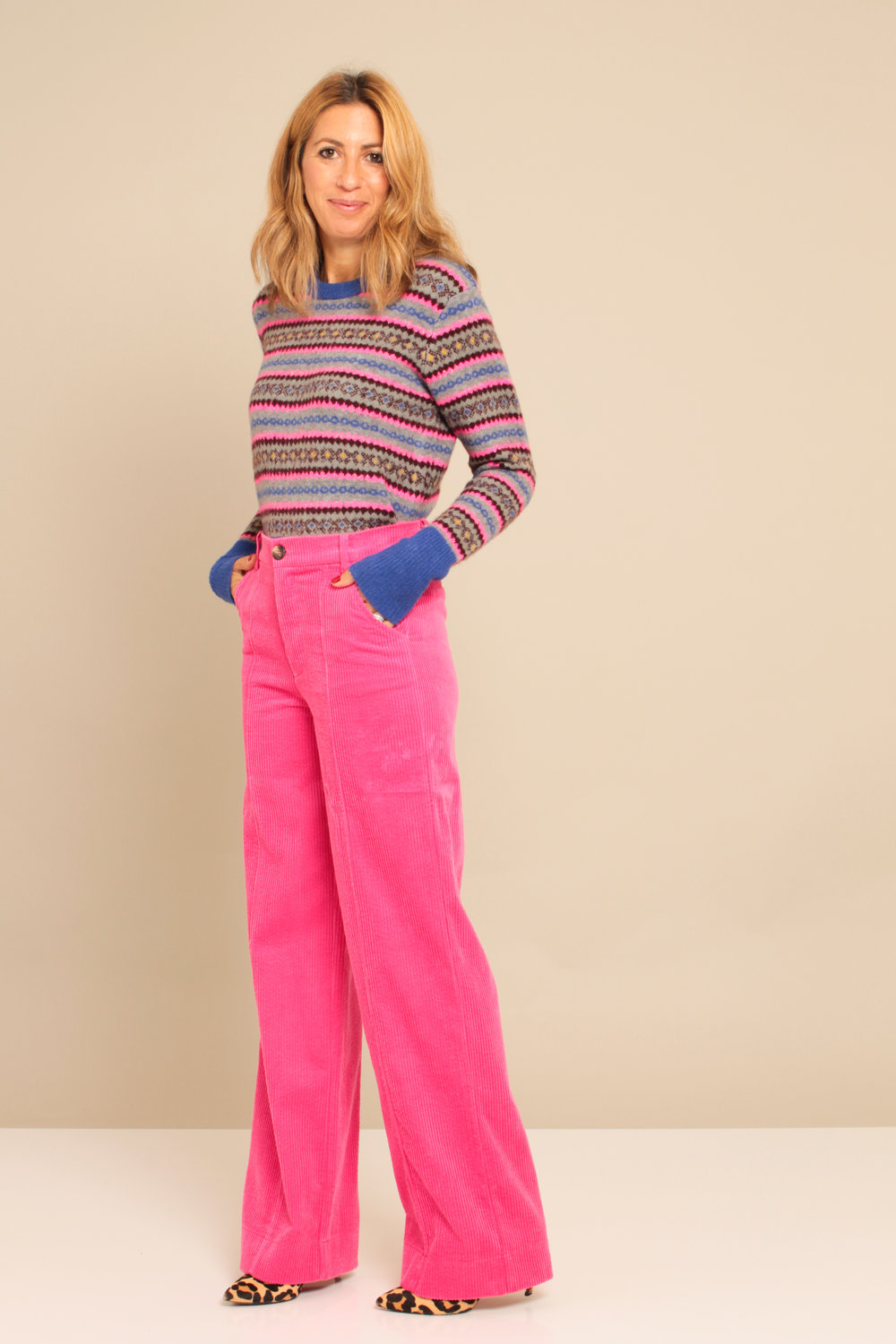 Jumper: £29.99  Zara  Super cute Great colours  Trousers: £29.99  Zara