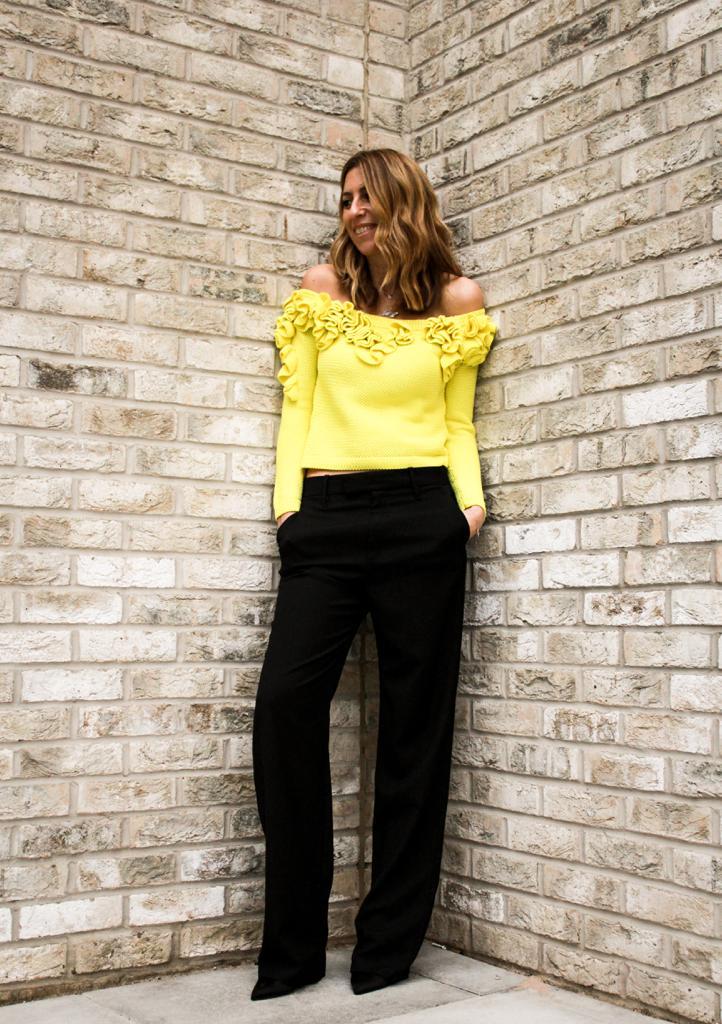 Top - Delpo30 (Spanish designer ) £80 Trousers - Gucci £60  Shoes  - Kate Spade £50