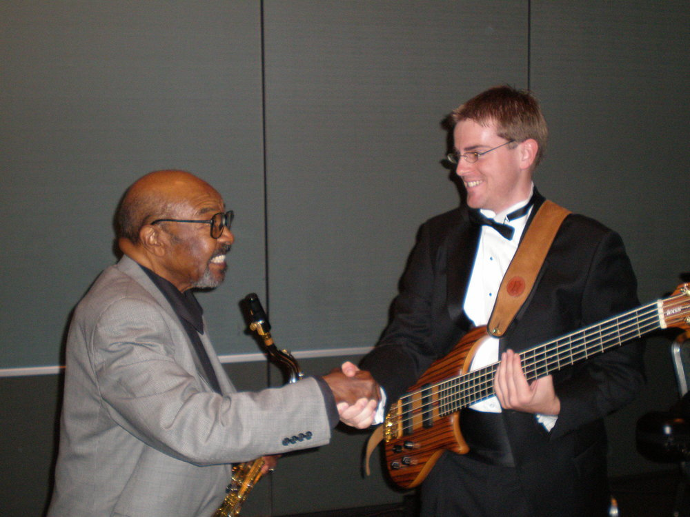 With the legendary James Moody in 2007.
