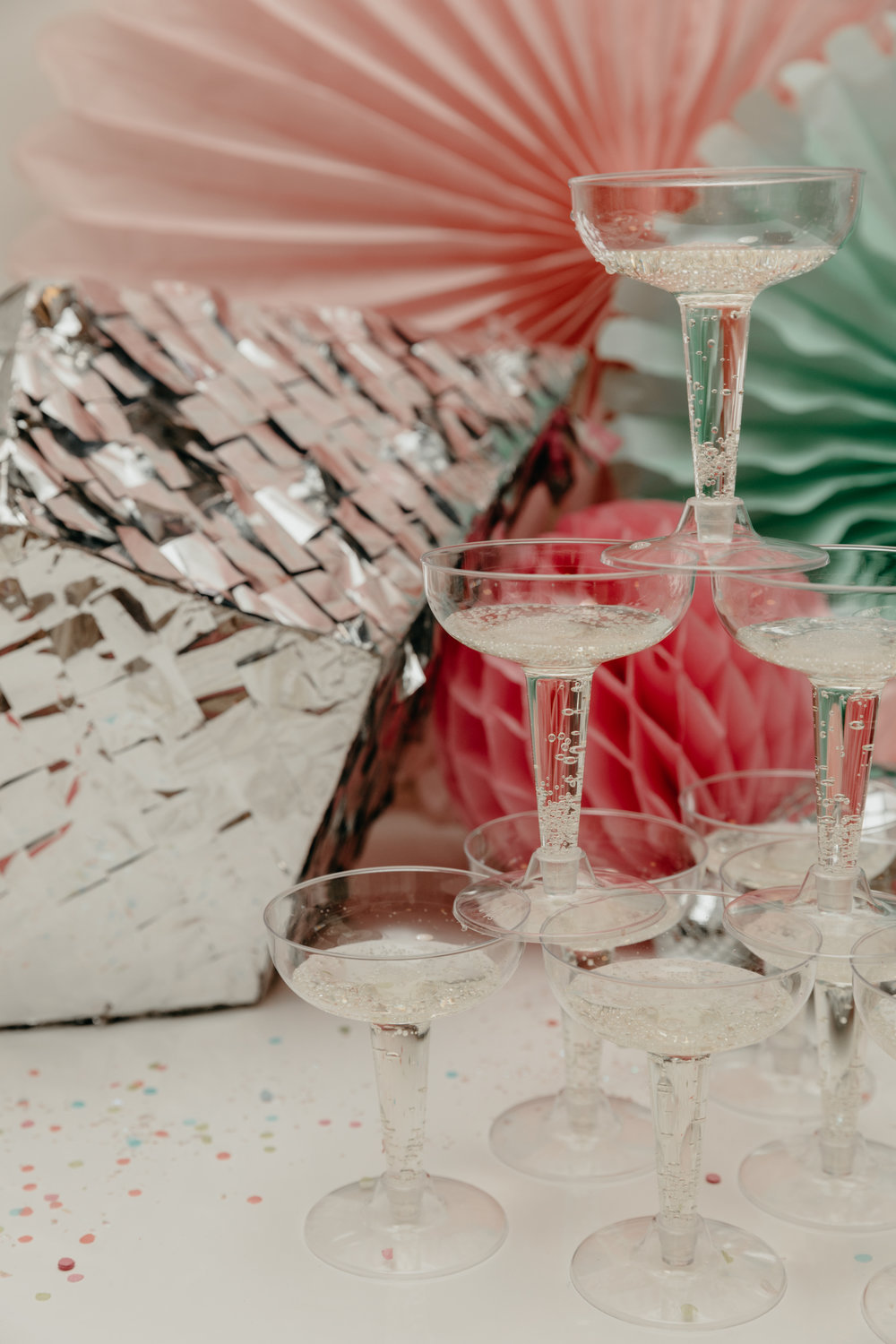 because you can't have a disco party without a champagne tower ...duh!