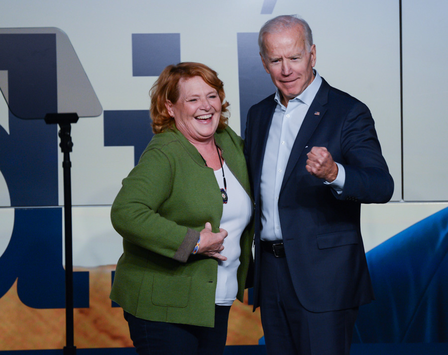 2018 former VP Joe Biden - Heidi Heitkamp